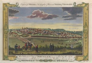 "Millar: Jerusalem. 1782. A hand coloured original antique copper engraving. 12"" x 8"". [MEASTp1687]"