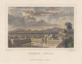 "Fullarton & Co.: Ispahan, Iran. c1845. A hand coloured original antique steel engraving. 6"" x 4"". [MEASTp1699]"