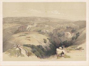 "Roberts: Bethlehem. 1842. A hand coloured original antique lithograph. 20"" x 14"". [MEASTp455]"