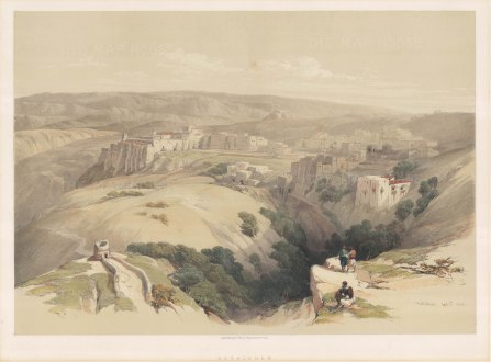 Bethlehem: Panoramic view from the Judean hills.