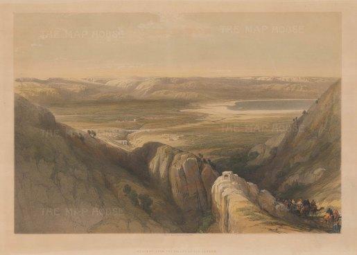 Jordan Valley: Descent upon the valley of the Jordan.
