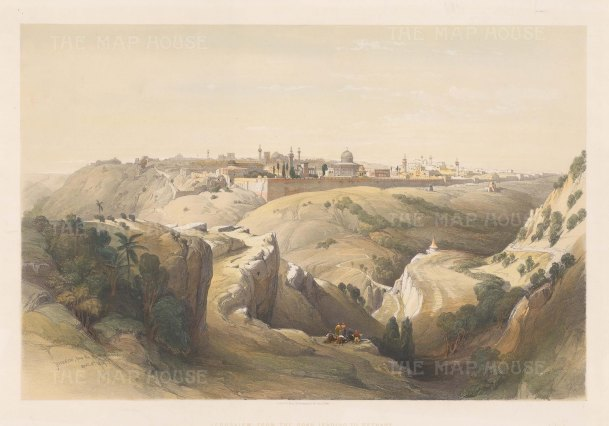 Jerusalem: Panorama of the City looking from the Mount of Olives to the Mosque of Omar.