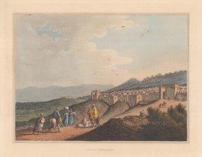 """Mayer: Bethlehem. 1810. An original colour antique aquatint. 13"""" x 10"""". [MEASTp91]"""