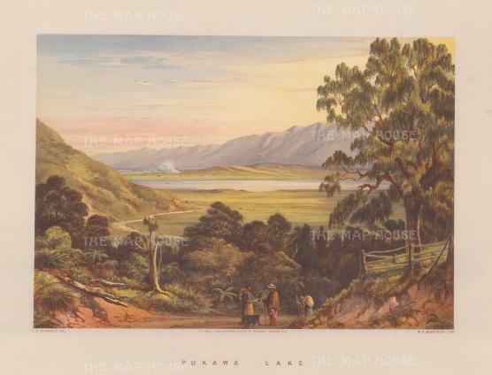 Taupo Lake (Pukawa Lake). View of Pukawa Bay from the Te Aute Road.