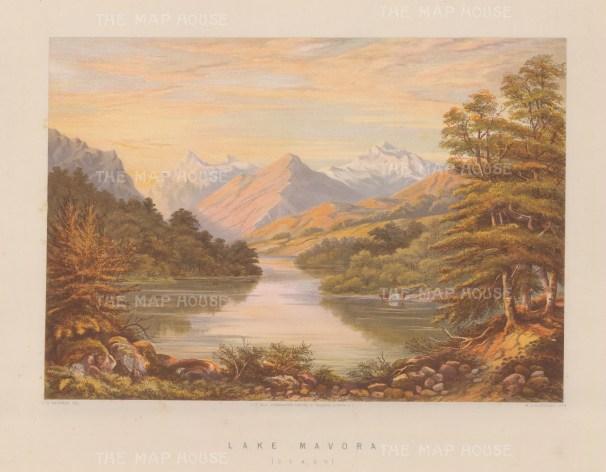 Lake Mavora: View towards the Livingstone and Thomson Mountains.
