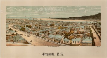 Greymouth. Panoramic view over the city towards the harbour. Wakefield's New Zealand Land Company established numerous settlements that became principal towns.