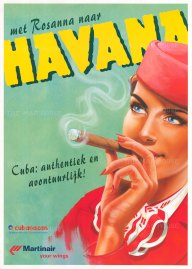 Cuba: Met Rosanna naar Havana. Promotional poster for Martinair and group Cubanacan. By Sylvan Steenbrink.