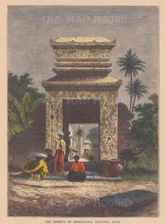 Java: Batavia (Jakarta). The Mosque of Soerabaija.