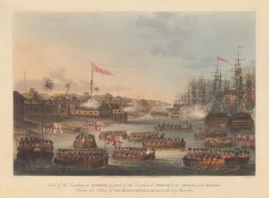 Rangoon (Yangon): Landing of the combined forces of British Infantry, Bombay Marine and the East India Company's private armies from Bengal and Madras. First Anglo-Burmese War.