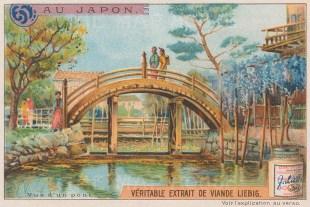 "Liebig's Extract: Japanese Bridge. c1905. An original antique chromolithograph. 5"" x 3"". [SEASp1464]"