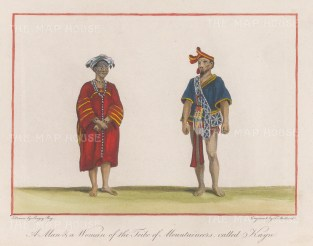 Lady and gentleman of the Kayn tribe in traditional dress.