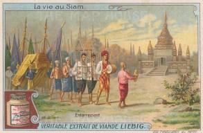 "Liebig's Extract: Funeral procession. c1910. An original antique chromolithograph. 4"" x 3"". [SEASp1615]"