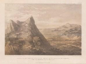 View of the Myitinge river from Myaliet (Pyagoon) Mountain.
