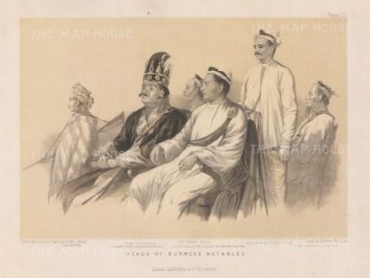 Portraits of the notables of Amarapura.