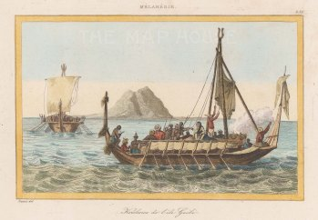 The boat of the Chief of Gebe Island.