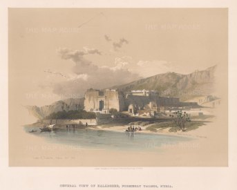 Kalabsha (Talmis): View of the Temple relocated for the building of the Asswan Dam.