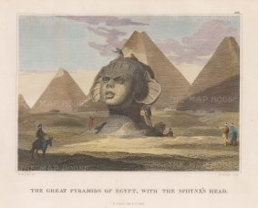 "Craig: Sphynx. 1820. A hand coloured original antique copper engraving. 8"" x 5"". [EGYp1132]"