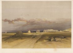 Memnomium: Ruins of the mortuary temple of Ammenhoptep III at Kom el-Hettan.