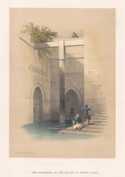 Nilometer on the Island of Rhoda. Nilometers, or al-Miqyas, were used to measure the levels of the Nile.