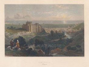 "Bartlett: Tripoli. 1838. A hand coloured original antique steel engraving. 9"" x 7"". [MEASTp1712]"