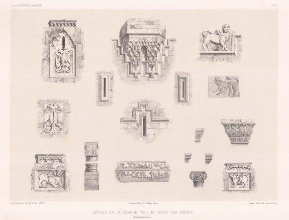 "de Hell: Gates of Diyarbakır. 1853. An original antique lithograph. 16"" x 11"". [TKYp1169]"