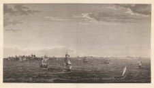 Panorama from the Sea of Marmara: Showing the coastline from the Chateau of the Seven Towers to the Escurial with galleons on approach.