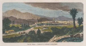 "Garnier: Jalapa, Guatemala. 1876. A hand coloured original antique wood engraving. 6"" x 4"". [CAMp176]"