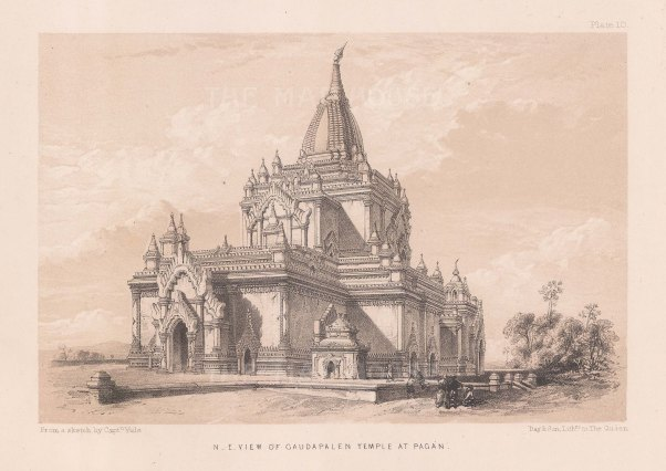 Pagan. North Eastern view of Gawdawpalin Temple.