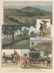 Barbados: St Joseph, Essex Hill. Panoramic view with five scenes of island life.