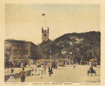 "Canadian Pacific: Bridgetown, Barbados. c1920. An original vintage chromolithograph. 7"" x 6"". [WINDp1077]"