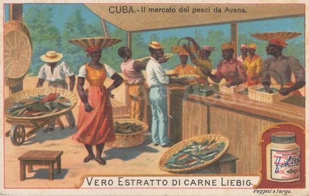 "Liebig's Extract: Avana, Cuba. c1900. An original antique chromolithograph. 4"" x 3"". [WINDp1212]"
