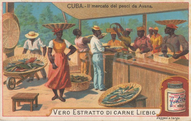 "Liebig's Extract: Avana, Cuba. c1900. An original antique chromolithograph. 4"" x 3"". [WINDp1212]"