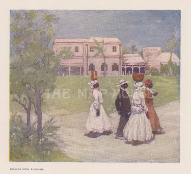 Barbados: Going to work. After Thomas Mower Martin.
