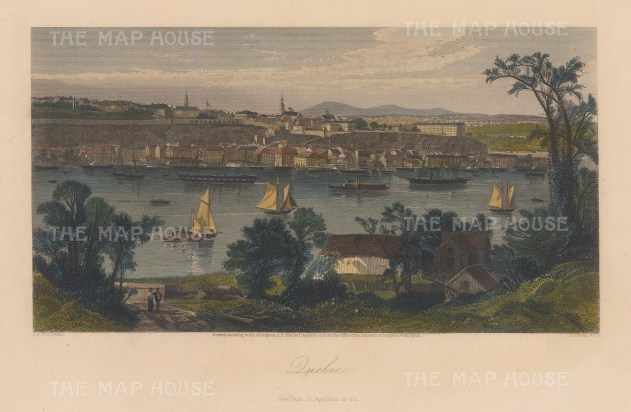 Panoramic view over the St Lawrence river: Towards Cap Daimant and Quebec City.