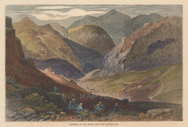 Khyber Pass Fortress of Musjid Ali. Second Anglo-Afghanistan War.