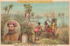 "Liebig's Extract: Ferdinand Magellan. c1910. An original antique chromolithograph. 5"" x 3"". [SAMp1240]"