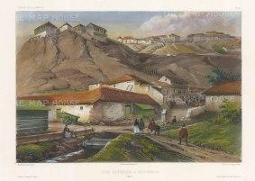"Capt. Vaillant: Valparaiso, Chile. c1850. A hand coloured original antique lithograph. 13"" x 10"". [SAMp1286]"