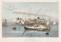 "Rugendas: Itaparica Island. 1835. An original colour antique lithograph. 13"" x 10"". [SAMp1394]"
