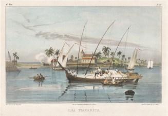 "Rugendas: Itaparica Island. 1835. An original colour antique lithograph. 13"" x 10"". [SAMp1394]"