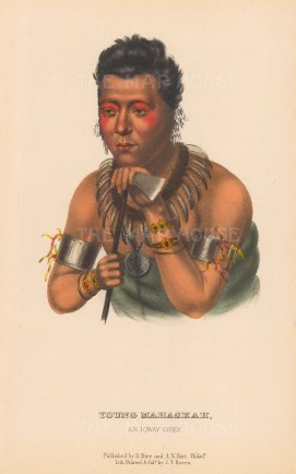 Young Mahaskah, an Ioway Chief.