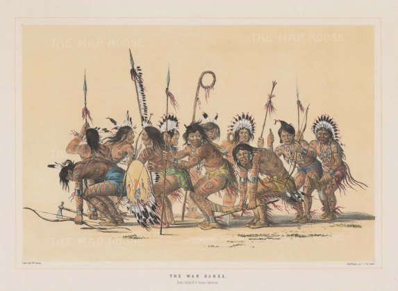 Dance of the Ojibwa Braves sketched at Fort Snelling, Minnesota.