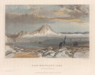 Lady Melville's Lake: Marking with flags. 2nd Arctic Expedition 1829-33.