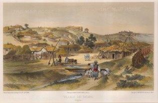 """de Hell: Bulgaria. 1853. A hand coloured original antique lithograph. 13"""" x 8. [CEUp438]"""