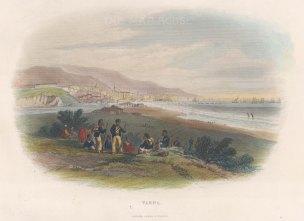 "Bartlett: Varna, Bulgaria. c1842. A hand coloured original antique steel engraving. 7"" x 5"". [CEUp554]"