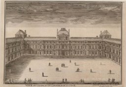 "de Fer: Louvre, Paris. 1704. An original antique copper engraving. 14"" x 10"". [FRp1409]"
