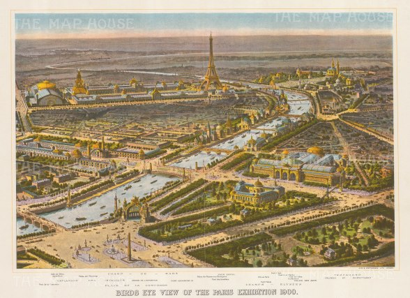 "The Sphere: Paris. 1900. An original antique chromolithograph. 20"" x 13"". [FRp1640]"