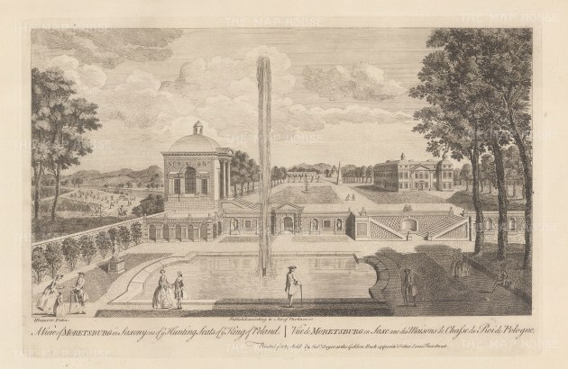 View over the gardens of the hunting seat of Frederick Augustus I.