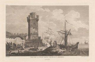 Rhodes: St.Nicholas Tower at Mandraki Harbour
