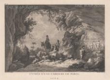 "Gouffier: Paros. 1782. An original antique copper engraving. 16"" x 10"". [GRCp838]"