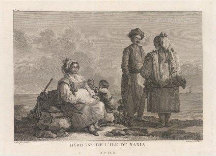 "Gouffier: Naxos. 1782. An original antique copper engraving. 16"" x 10"". [GRCp889]"
